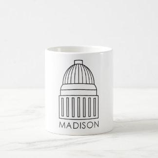 Madison Wisconsin huvudstadbyggnad Kaffemugg
