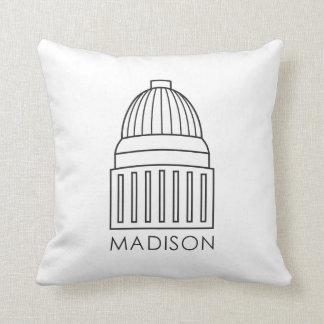 Madison Wisconsin huvudstadbyggnad Prydnadskudde