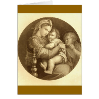 Madonna & barn hälsningskort