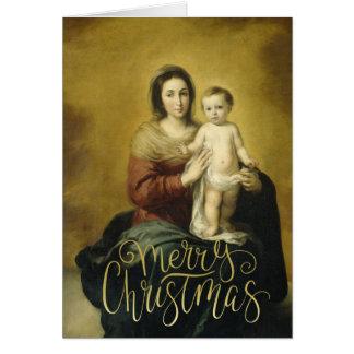 Madonna & barn, kort för konstjulhälsning