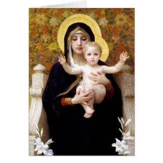Madonna & barn vid Bouguereau religiösajul Hälsningskort