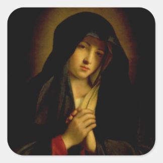 Madonna i sorg fyrkantigt klistermärke