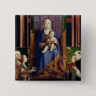 Madonna med Sanktt Nicholas av Bari Standard Kanpp Fyrkantig 5.1 Cm