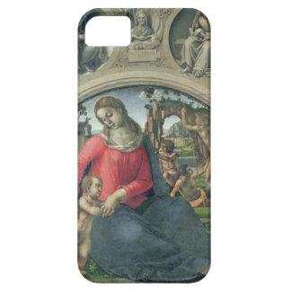 Madonna och barn, 1490-95 (olja på panel) iPhone 5 Case-Mate skal