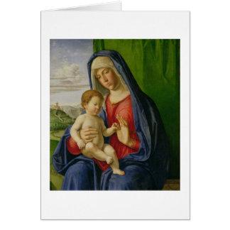 Madonna och barn, 1490s hälsningskort
