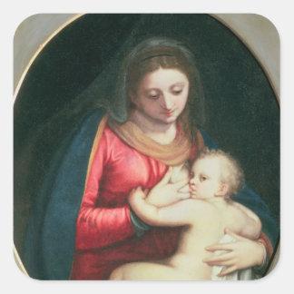 Madonna och barn, 1598 fyrkantigt klistermärke