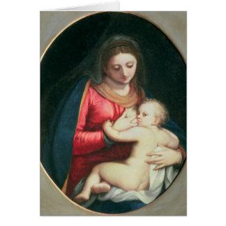 Madonna och barn, 1598 hälsningskort