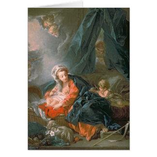 Madonna och barn, 18th århundrade hälsningskort
