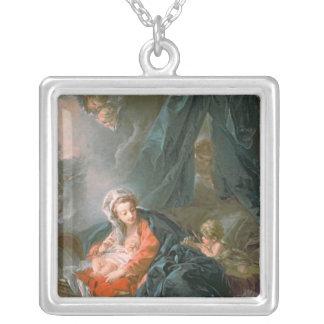 Madonna och barn, 18th århundrade silverpläterat halsband