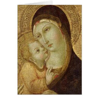 Madonna och barn 2 hälsningskort