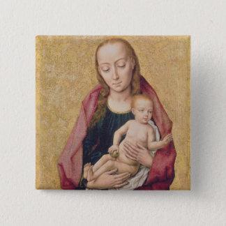 Madonna och barn 2 standard kanpp fyrkantig 5.1 cm