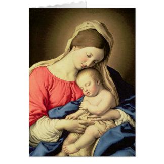 Madonna och barn 3 hälsningskort