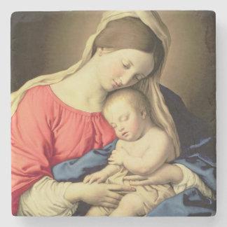 Madonna och barn 3 stenunderlägg