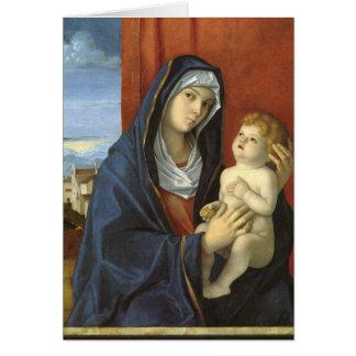 Madonna och barn av Giovanni Bellini Hälsningskort