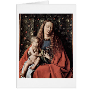 Madonna och barn av Johannes De Eyck Hälsningskort