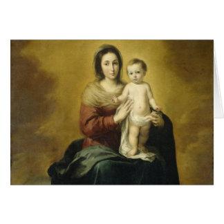 Madonna och barn, bil för konstjulhälsning hälsningskort
