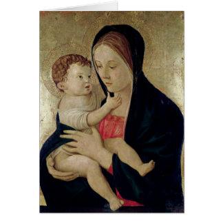 Madonna och barn, c.1475 hälsningskort