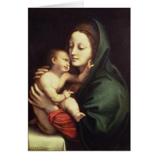 Madonna och barn, c.1510 hälsningskort