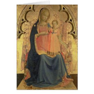 Madonna och barn, centralpanel av en triptych hälsningskort