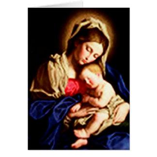 Madonna och barn - Da Sassoferrato Hälsningskort