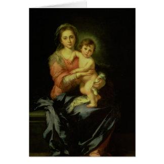 Madonna och barn, efter 1638 hälsningskort