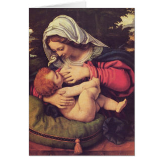 Madonna och barn hälsningskort