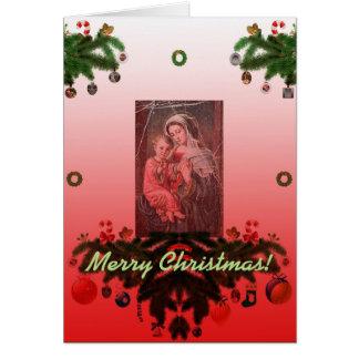 Madonna och barn [julen] hälsningskort