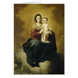 Madonna och barn, konstjulkort hälsningskort
