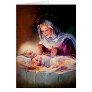 Madonna och barn. Konstjulkort Hälsningskort
