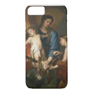 Madonna och barn med änglar
