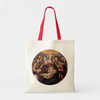 Madonna och barn med änglar av Sandro Botticelli Tygkasse