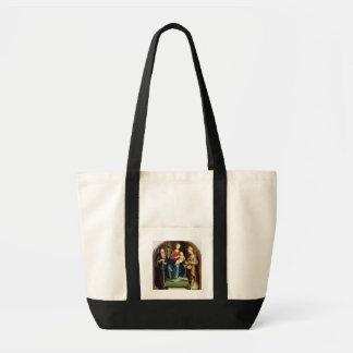 Madonna och barn med St Anthony Abbot och St. N Tygkasse