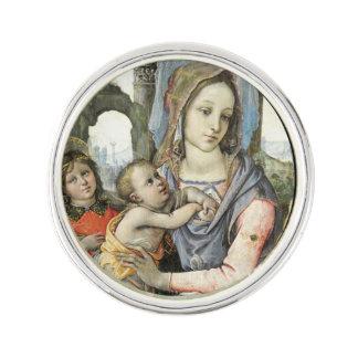 Madonna och barn med St Joseph och en ängel Kavajnål