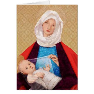 Madonna och barn mig hälsningskort