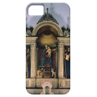 Madonna och barn och Saints (triptychaltarpiecen) iPhone 5 Skydd