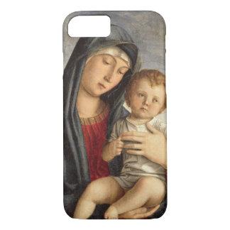 Madonna och barn (olja på panel) 2