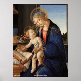 Madonna och barn poster