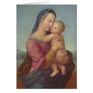 Madonna och barn (tempona Madonna) vid Raphael Hälsningskort