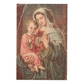 Madonna och barn trätavla