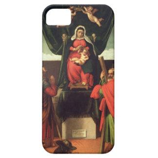 Madonna och barnet installerar med fyra Saints, iPhone 5 Cover