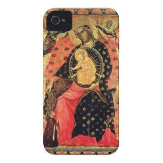 Madonna och barnet installerar med två innerliga iPhone 4 fodraler