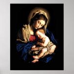 Madonna och för barn beställnings- affisch