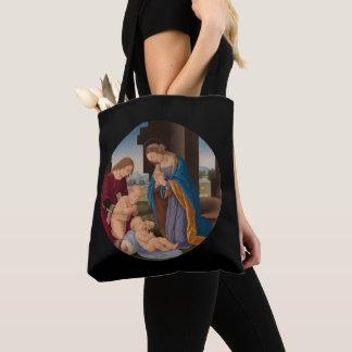 Madonna som älskar barnet med det Sanktt spädbarn Tygkasse