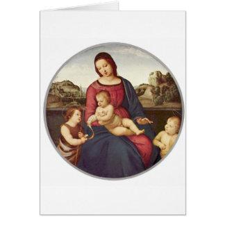 Madonna Terranuova vid Raphael Hälsningskort