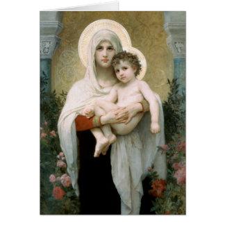 Madonnaen av ro hälsningskort