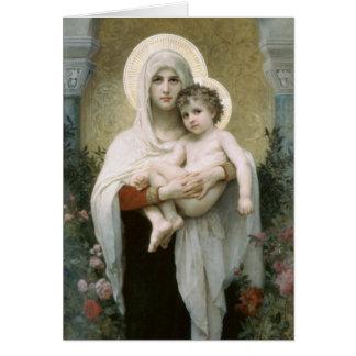 Madonnaen av rohälsningkortet hälsningskort