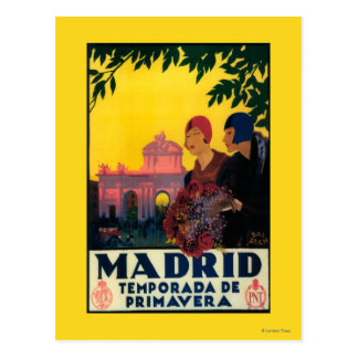 Madrid i Springtime reser den befordrings- Vykort