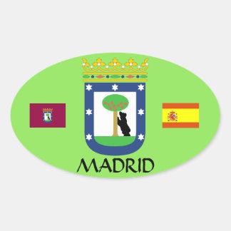 Madrid Spanien Euro-Oval vapensköldklistermärke Ovalt Klistermärke