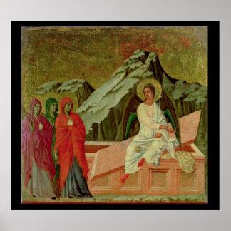 Maesta: Trena Maries på Kristus grav Poster