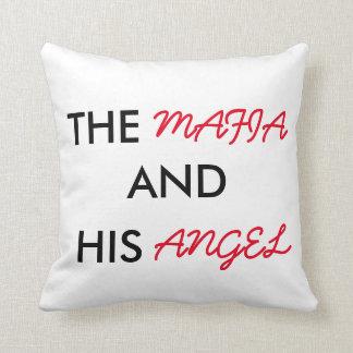 Maffian och hans ängel kudder prydnadskudde